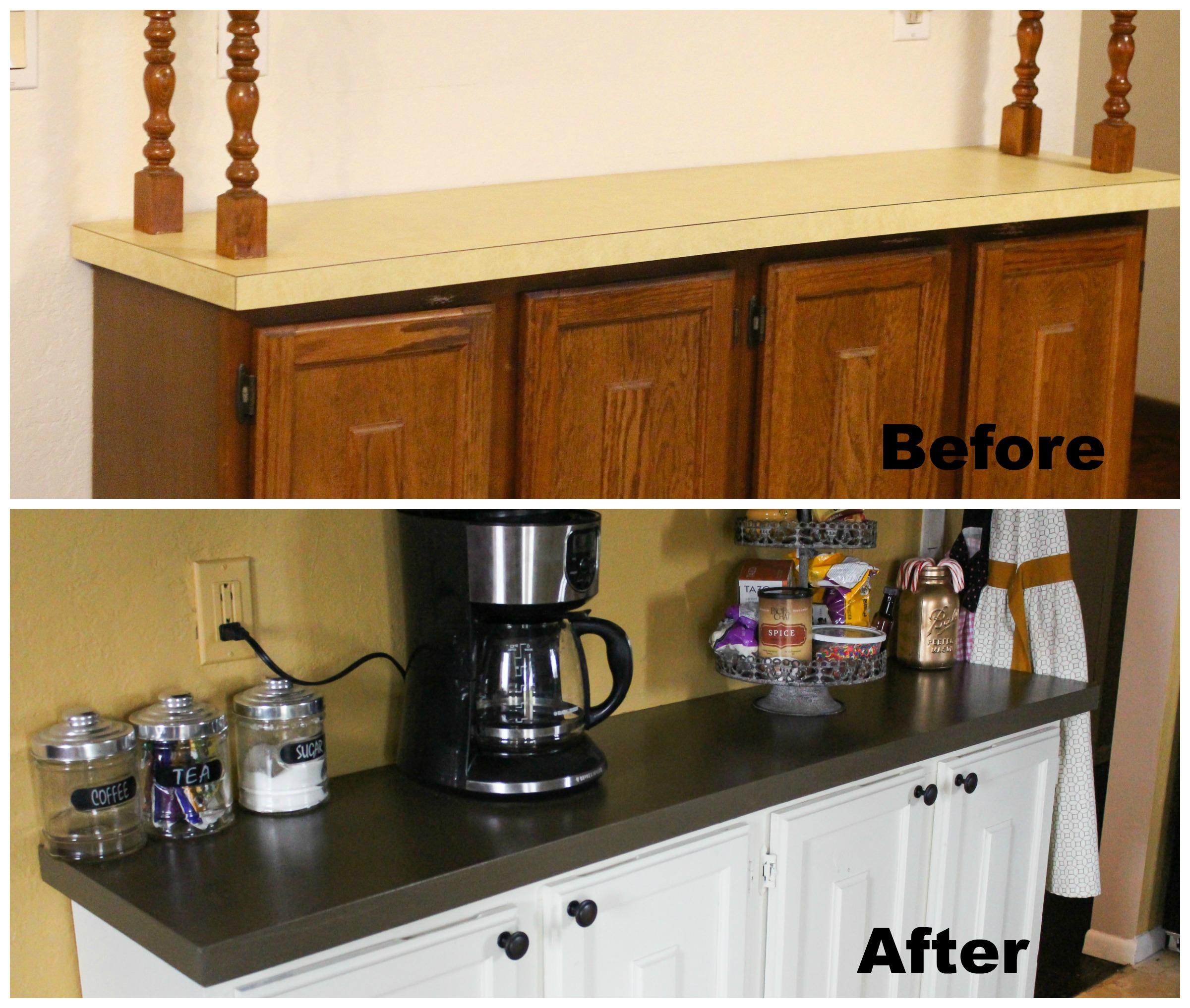 diy painted kitchen countertops