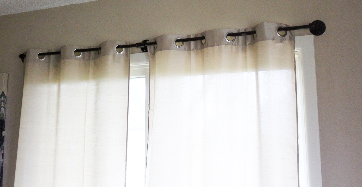 cheap diy pipe curtain rods spoonful of sparkles