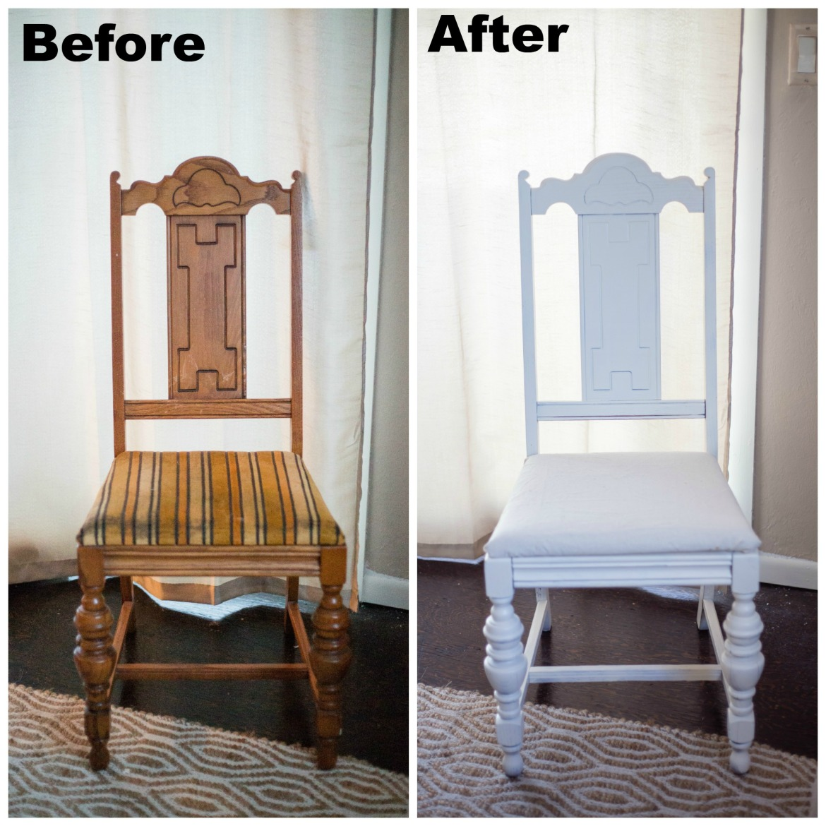diy dining room chair makeover