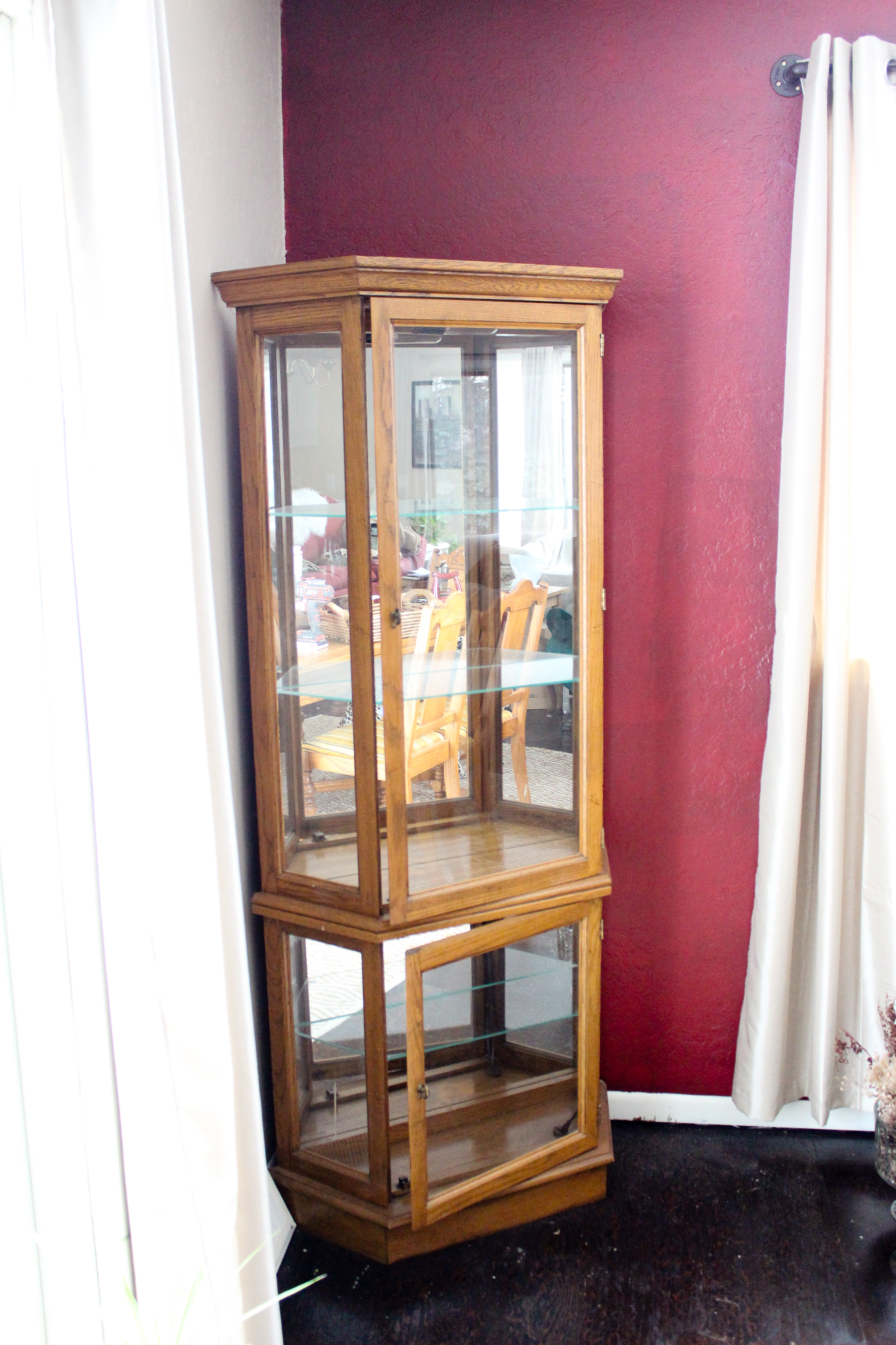 French Country Corner Hutch Makeover My Chic Obsession